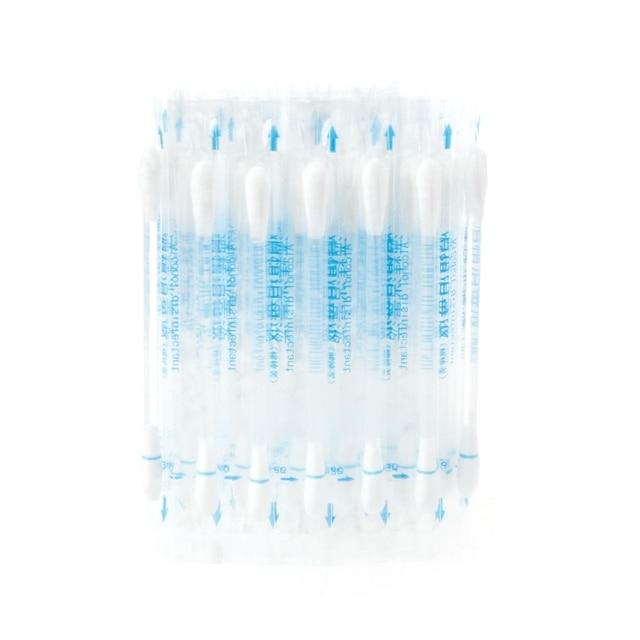 50 piezas desechables hisopo de algodón Alcohol palo desinfectado de algodón consejos de salud herramienta ayuda Kit de oído, nariz Herramientas de limpieza