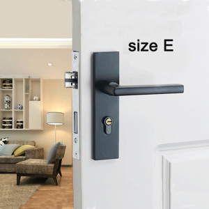 Image 3 - Bedroom Door Lock with door handle Black door lock Continental Wooden interior Door Handles Lock for home