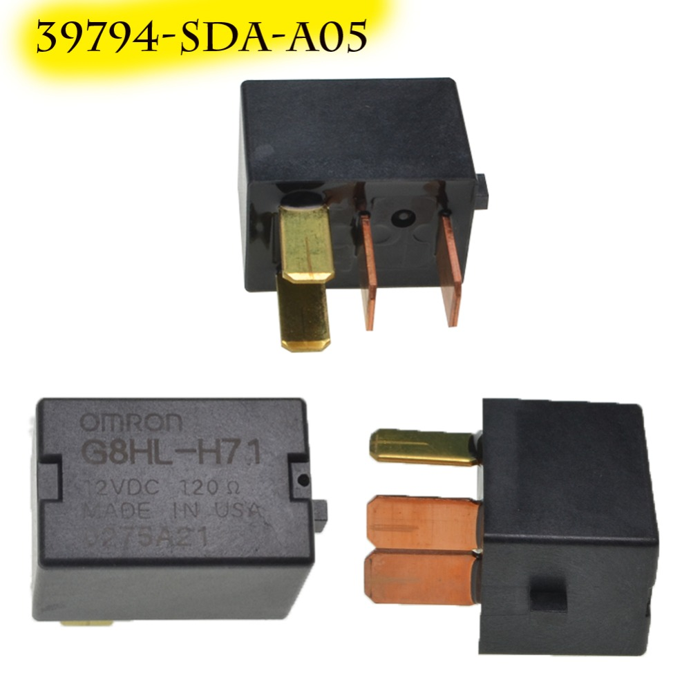 For Acura TL For Accord Civic Omron G8HL-H71 Power Relay Assembly 12V DC A/C Compressor Relay Fuse Relay 39794-SDA-A03