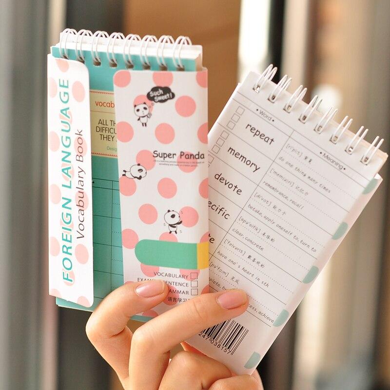 Cadernos vocabulário palavras notebook bloco de Cover Color : Blue Black Beige White
