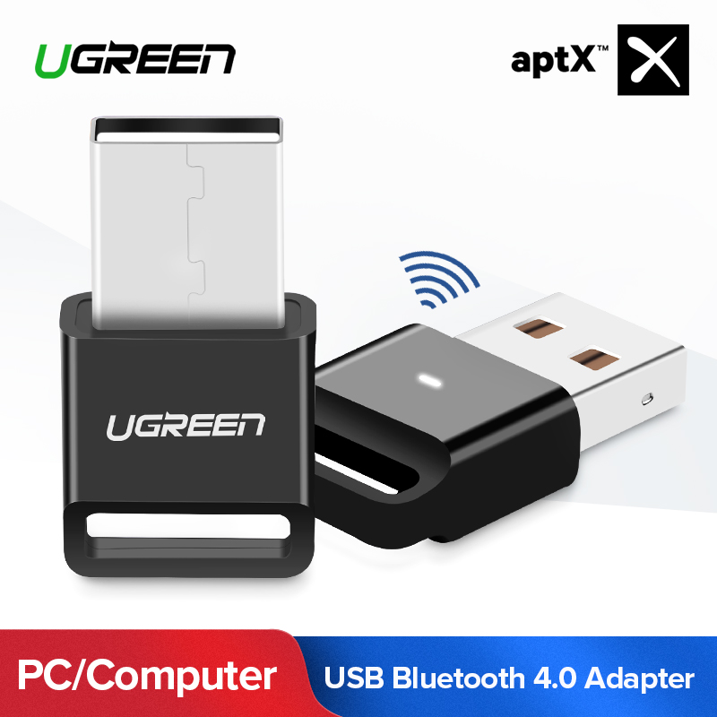 Ugreen Bluetooth Adapter USB Dongle for Computer PC Wireless Mouse Bluetooth Speaker 4.0 Music Receiver USB Bluetooth Adapter mz 301 usb wireless bluetooth audio music receiver adapter dongle with 3 5mm audio cable for phone pc psp