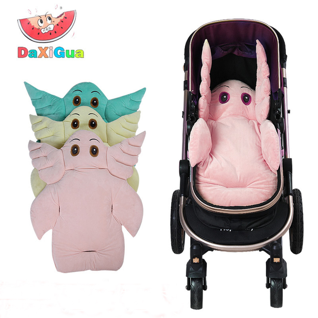 Cartoon Elephant Baby Stroller Seat Cushion Head Support Pillow Infant Child Cart Pram Dining Chair Thick