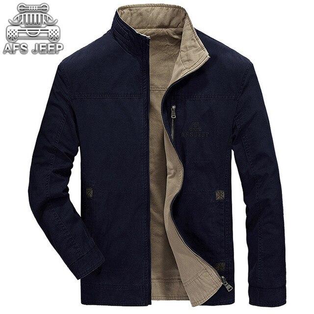 c00a731ff02 Reversible Man Jacket Loose New 2017 Spring Atumn Business Casual Original Brand  AFS JEEP Militar Coats