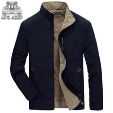 Reversible Man Jacket Loose New 2017 Spring Atumn Business Casual Original Brand AFS JEEP Militar Coats and jackets High Quality