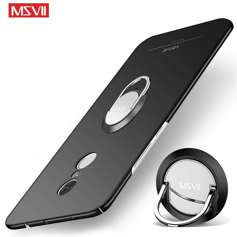 Xiaomi Redmi Note 4 4X 5 Pro Case MSVII Finger Ring Slim Redmi Note 5 Pro Cover Metal Holder Cover Redmi Note4 X Note5 Pro Cases