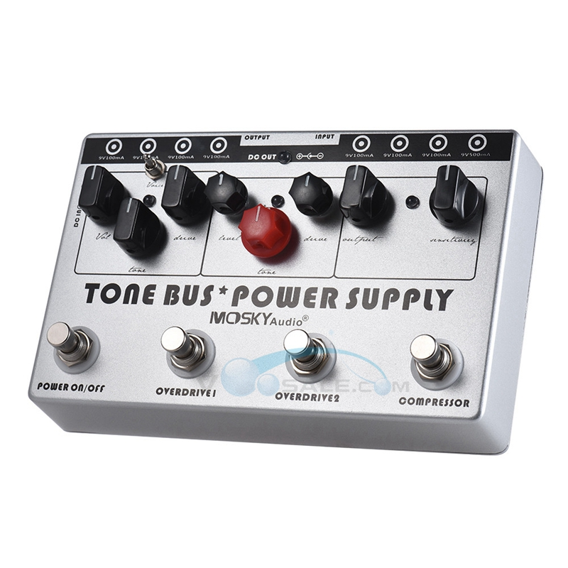 mosky tone bus power supply multi effects guitar pedal with 3 effects pedal 8 outputs power. Black Bedroom Furniture Sets. Home Design Ideas