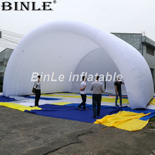 10x8x6m white waterproof oxford giant inflatable stage cover arch style tent open air roof canopy for concert or events