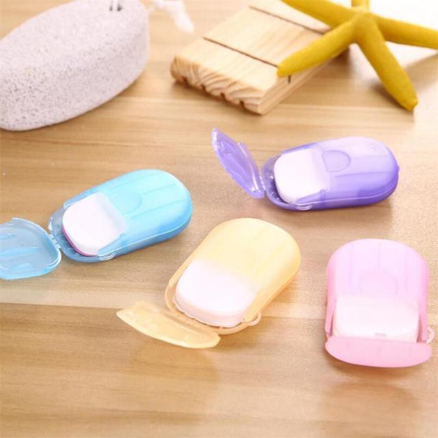 Convenient Washing Hand Wet Wipes Travel Paper Soap Scented Slice Sheets Foaming Box 1