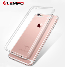 For iPhone 6 Plus Case Transparent Silicone Clear Cover For Apple iPhone6 iPhone 7 7 8 plus Soft Silica Gel TPU Phone Case