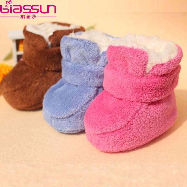 Hodginsii 0-1 anos de idade do bebê sapatos de sola macia espessamento crianças pequenas de algodão-acolchoado sapatos da criança do bebê recém-nascido sapatos de outono