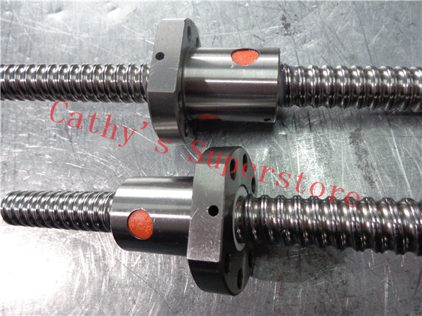 Free shipping 1204 Rolled Ballscrew set- 1pc SFU1204 -L300mm+61mm(machining parts) +1pcs ballnut + 1set FK10 FF10 Support
