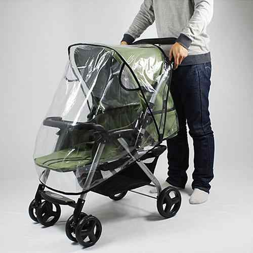 Stroller Accessories Universal Transparent Waterproof Rain Cover Wind Dust Shield Baby Stroller Pushchair Pram Rain Cover infant