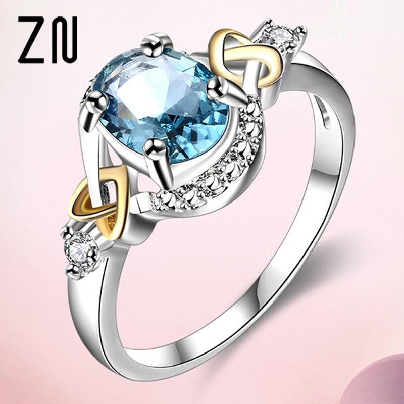 ZN Новое Женское кольцо с австрийским кристаллом модные кольца модные ювелирные изделия кольца Подарки вечерние свадьбы|Кольца|   | АлиЭкспресс
