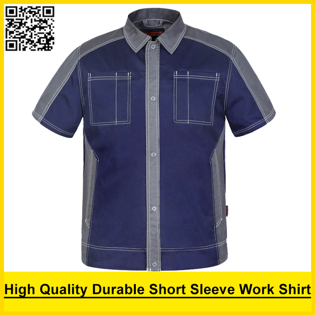 d902514d79 Bauskydd workwear dos homens camisa pólo de manga curta de Alta qualidade camisa  camisa de trabalho