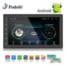 Podofo 2 Din Автомобильный Радио Android универсальный gps навигация Bluetooth Сенсорный экран Wifi автомобильный аудио стерео FM USB автомобильный мультимедийный MP5