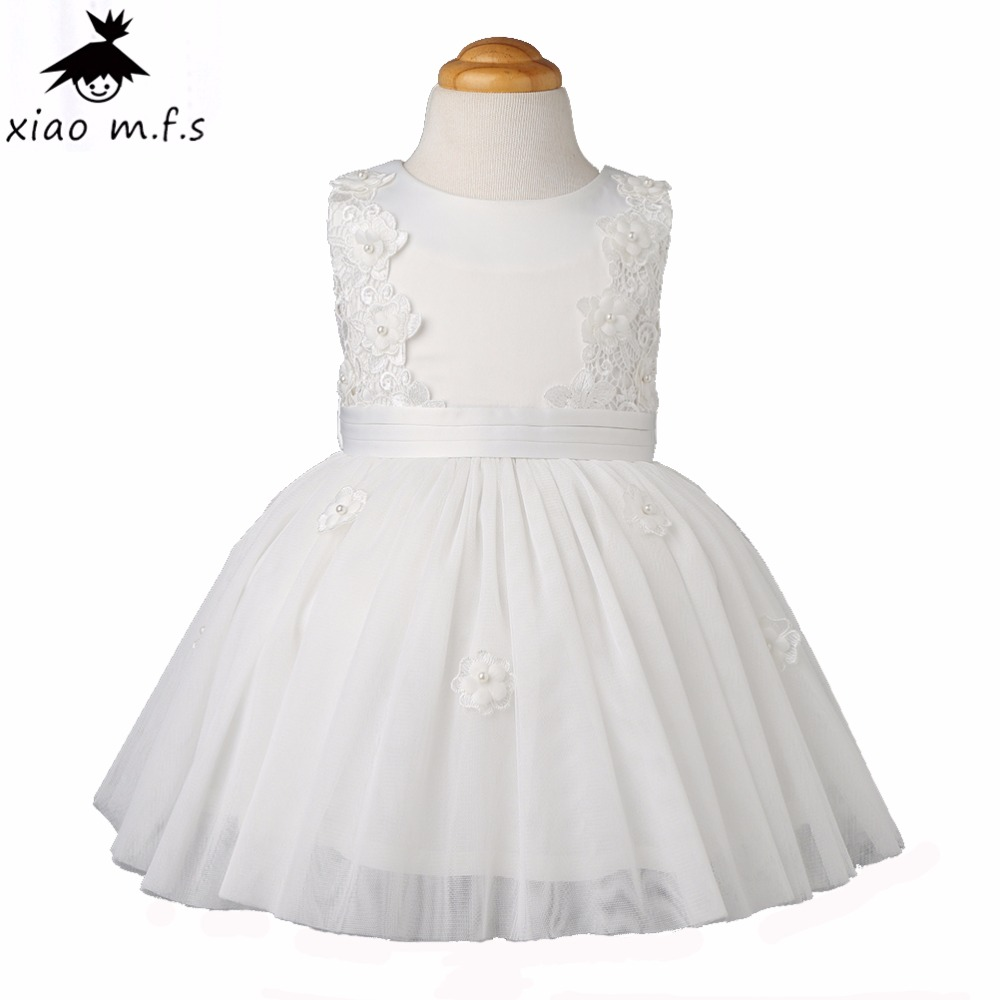 2017 brand baby girl clothes girls dress pearl flower Bow kids princess dresses toddler clothing for party and wedding summer kids girls lace princess dress toddler baby girl dresses for party and wedding flower children clothing age 10 formal