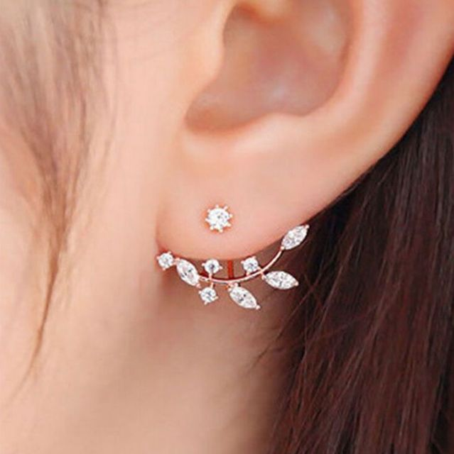 american shipping diamond gold earrings az hanging for flower girls stud combo free and large skn women silver