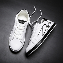 GUDERIAN Fashion White Sneakers Men Breathable Leather Casual Shoes For Comfortable Flat Footwear Soulier Homme