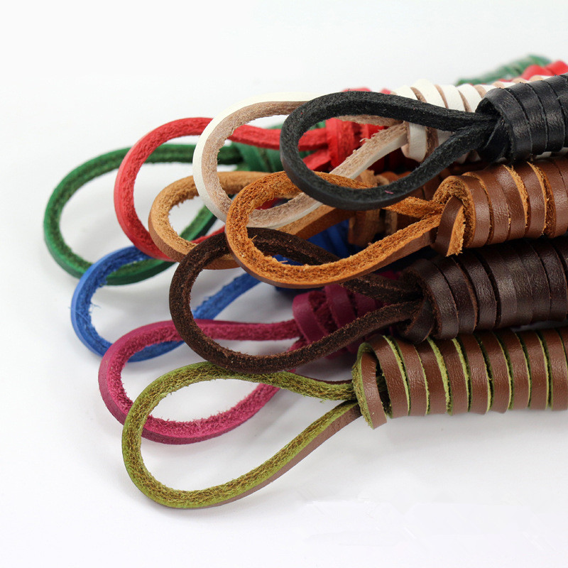 High Quality Leather Shoelaces Doug Shoes Leather Shoes Cowhide Cutting Laces Casual Shoelaces Retail Wholesale Dropship