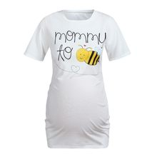 Women Maternity Short Sleeve Cartoon Honeybee Top T-shirt Pregnancy Clothes new quality Funny Pregnancy Tee fashion Mothers Tops(China)