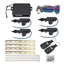 Kit de Alarme de Segurança Do Carro Universal de Travamento Central Remoto Auto 4 Porta Suporte Sistema Keyless da Entrada Do Carro Rotação de 360 Graus-styling