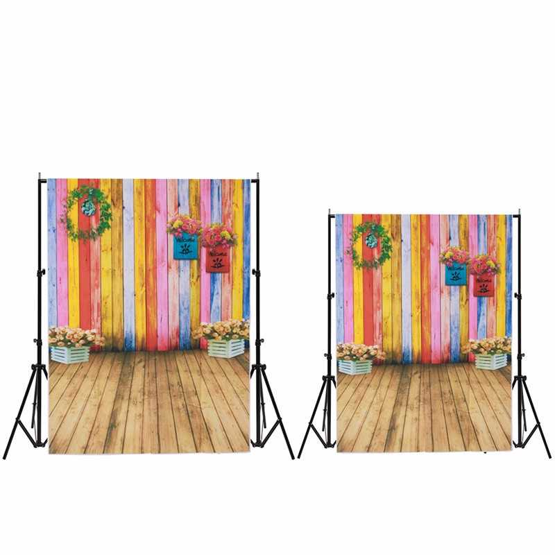 3x5ft/5x7ft Vinyl Colorful wall wood floor Photography Background Studio Photo Prop photographic Backdrop waterproof