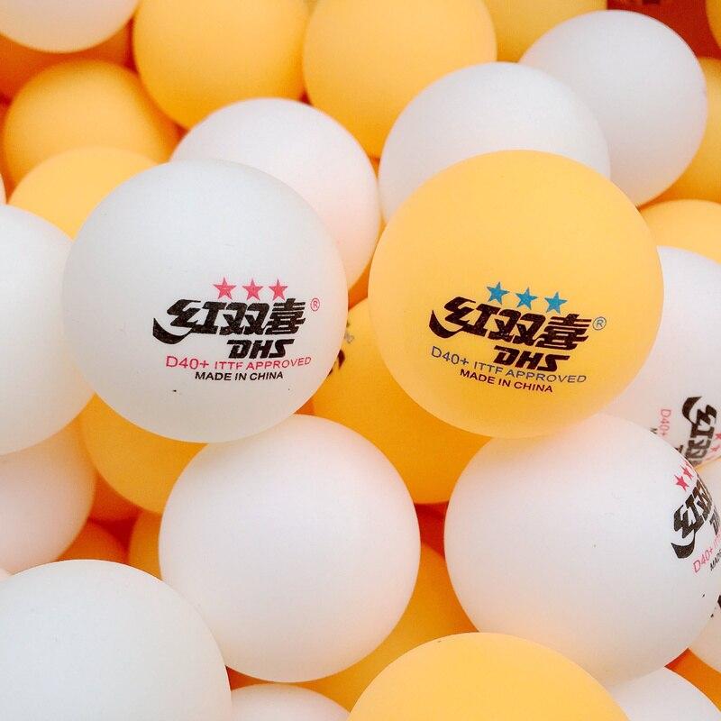 100 Pcs/Pack 40 + 2.8g balles de Tennis de Table 3 étoiles en plastique ABS nouveau matériel balles de Ping-Pong balle d'entraînement de Tennis de Table