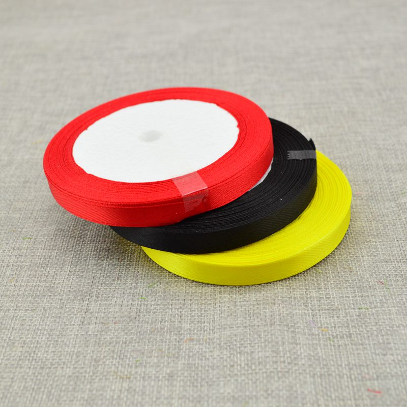 10 мм, 25 ярдов, шелковая атласная лента для свадебного автомобиля, ручная работа, Подарочная коробка для конфет, материалы для украшения, рождественские ленты