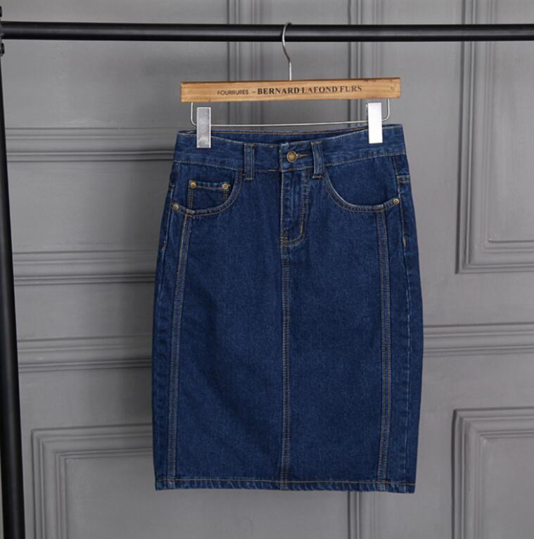 89ee4f5840e 2018 Spring Summer women jeans skirt Fashion Classic high waist Sexy ...