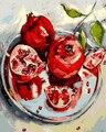 Framless ankunft einzigartige geschenk Digitale Ölgemälde Auf Leinwand malerei durch zahlen dekorative bild Abstrakte stillleben von obst|Malerei und Kalligraphie|Heim und Garten -