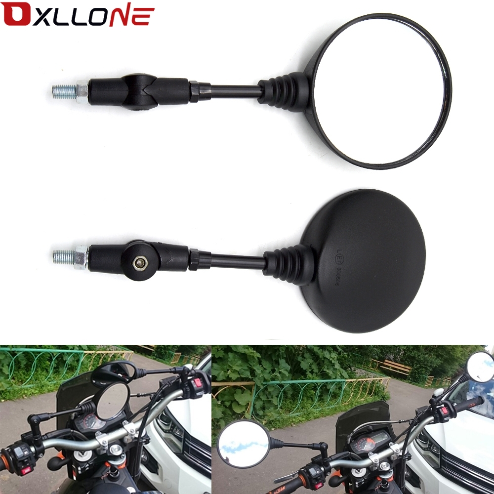 Universal Black Folding  Motorcycle Mirrors For honda yamaha Kawasaki z750 Suzuki Ducati 899 959 1098 1100 1198-in Side Mirrors & Accessories from Automobiles & Motorcycles