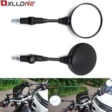 Универсальные черные складные мотоциклетные зеркала для honda yamaha Kawasaki z750 Suzuki Ducati 899 959 1098 1100 1198