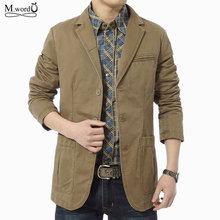 Mwxsd brand high quality Autumn winter men casual Blazer men's cotton suit Jacket male blazer militar masculino