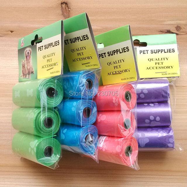 3 Rolls Pack Pet Bags Dog Cat Waste Pick Up Clean Bag Refill Biodegradable