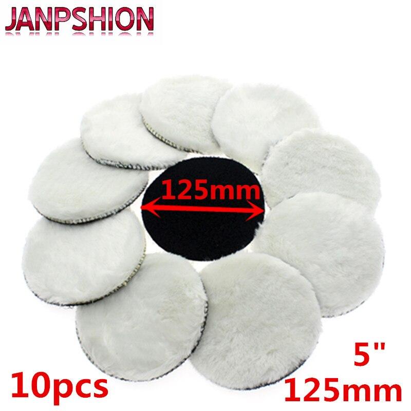 "JANPSHION 4pc 125mm car polishing pad 5/"" inch polish waxing pads Wool Polisher B"
