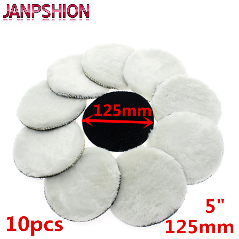 JANPSHION 10pc 125mm Car Polishing Pad 5