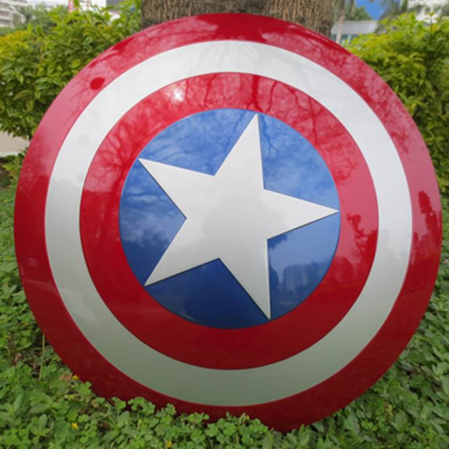 HOT Avengers Civil War Captain America 57CM metal color Shield 1:1 Cosplay Steve Rogers ABS model adult shield replica metal colour the avengers civil war captain america shield 1 1 1 1 cosplay steve rogers metal model shield adult replica wu525