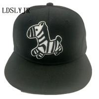 LDSLYJR cotton Cartoon zebra Adjustable embroidery baseball cap boys girls hat hip-hop hat snapback cap for women men 60