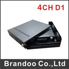 4CH D1 school bus dvr, mobile DVR with shockproof bracket, with GPS, support car tracking