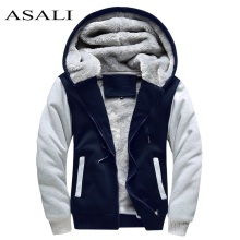 ASALI Bomber Jacket 2018 Winter Thick Warm Fleece Zipper Coat for Mens SportWear