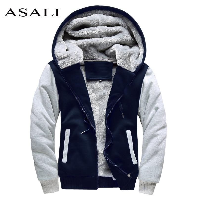 ASALI Bomber Jacket Men 2020 New Brand Winter Thick Warm Fleece Zipper Coat For Mens SportWear Tracksuit Male European Hoodies