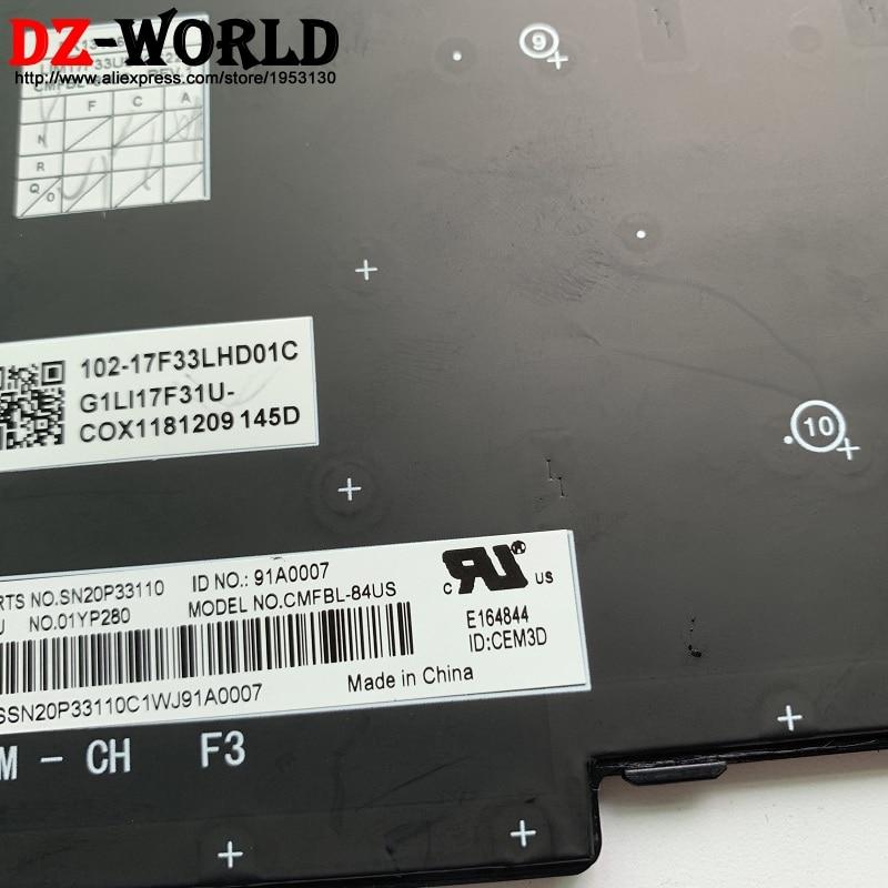 New for lenovo IBM Thinkpad E480 L480 series laptop US keyboard backlit 01YP280