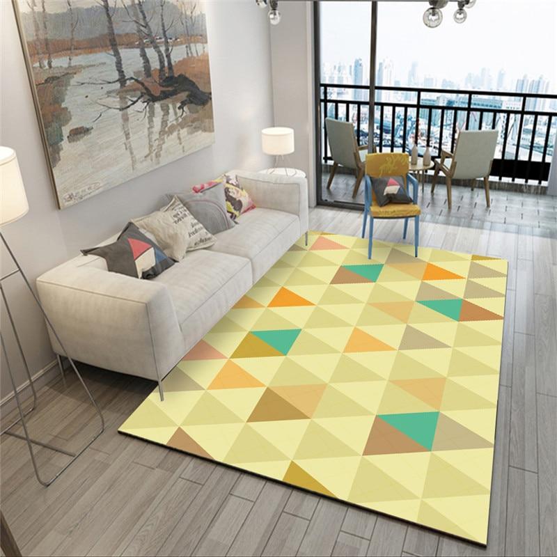 Tapis modernes géométriques pour salon maison nordique tapis chambre chevet couverture zone tapis doux étude salle teppich tapis plancher - 3