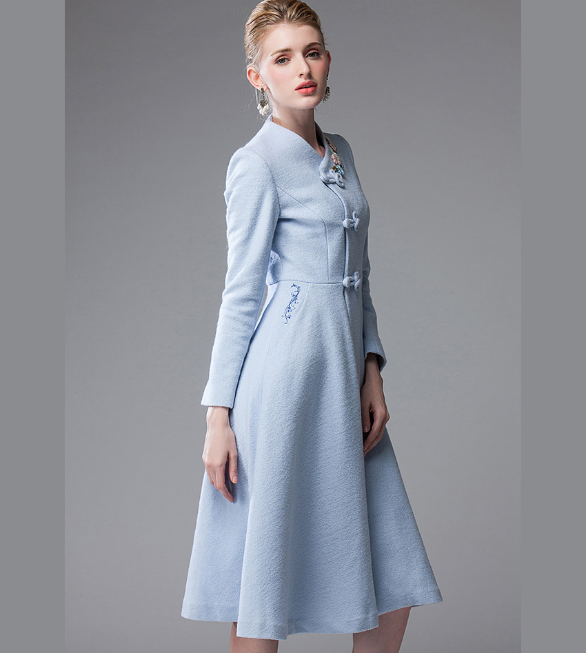 Free Shipping 2014 Autumn Winter Fashion Lady Dress Coat Women 39 S Long Wool Coat Woolen Overcoat