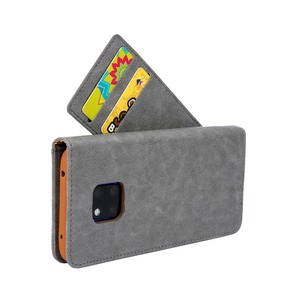 Image 3 - Sided Card Holder Magnetic Flip Book Stand Luxury PU Leather Wallet Case for Huawei P40 Pro P40 P30 Pro P20 lite P20 Pro Cover
