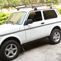 Нержавеющая сталь автомобиля наружная дверь украшения протектор полоски комплект отделка для Лада Нива автомобильные аксессуары 6 шт.