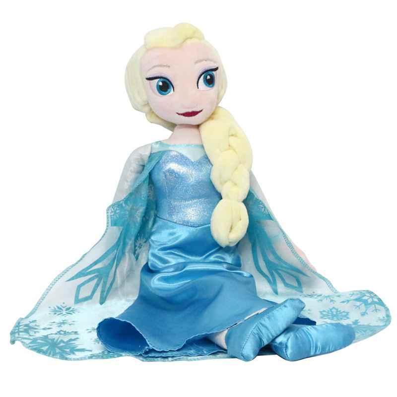 Дисней Принцесса плюшевые куклы игрушки для детей милый мультфильм 40 см Холодное сердце Эльза куклы плюшевые игрушки дети мягкие куклы Brinquedos