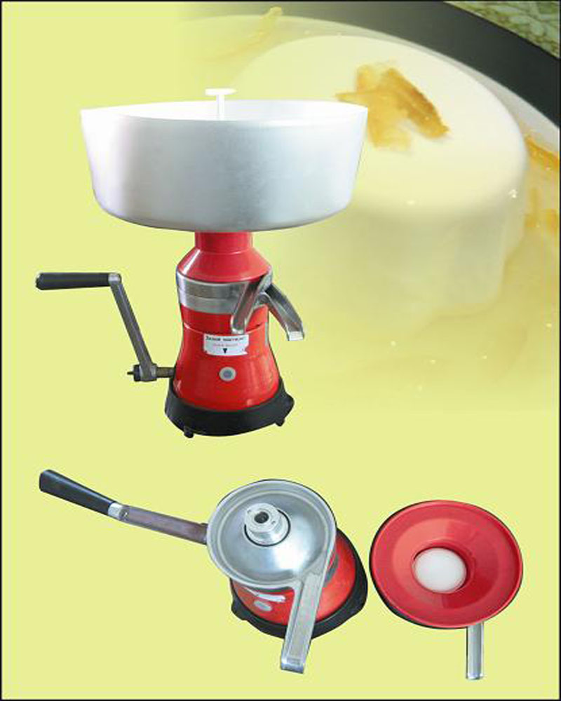 FL-80 household Stainless Steel Manual Milk Cream Separator Machine 1pc cukyi household electric multi function cooker 220v stainless steel colorful stew cook steam machine 5 in 1