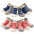 New 2017 Newborn Cotton Infant Sock Children Fashion Stripe Dot Socks Girls All-Match Baby Girl For Kids Socks  8pcs=4pairs/lot