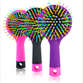 LKE Magic Hair Comb Cepillo Volumen Arco Iris Anti Enredo antiestáticas Herramientas de Peinado Cabeza Masajeador Cepillo de Pelo Con Espejo